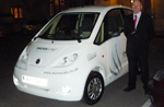 John Jostins with Microcab at the House of Lords