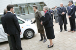 Princess Ann meets Microcab