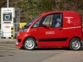 Royal Mail Microcab at the fuelling station on campus