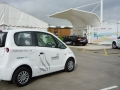 Microcab at Honda's new H2 filling station