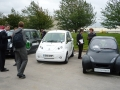 Microcab at launch of new hydrogen filling station