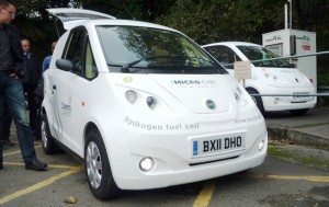 Two Microcabs on show at the SWARM AGM